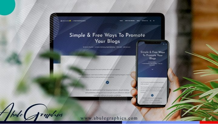 how to promote blog on website internet abule graphics content writing marketing abuja nigeria